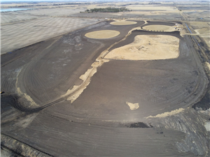April 19 - Completed pond cells ready for seeding